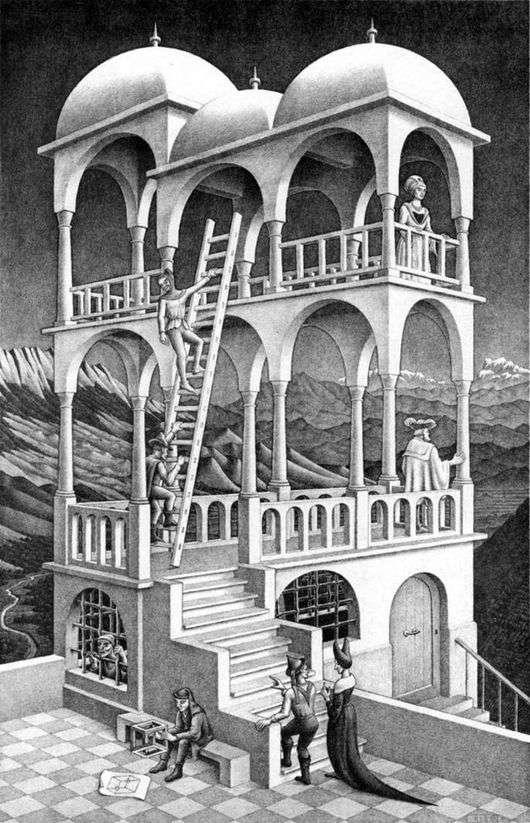 Описание картины Маурица Эшера «Бельведер»