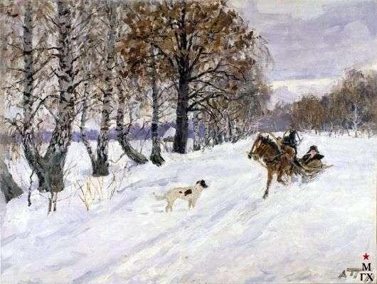 Описание картины Аркадия Пластова «Зима»
