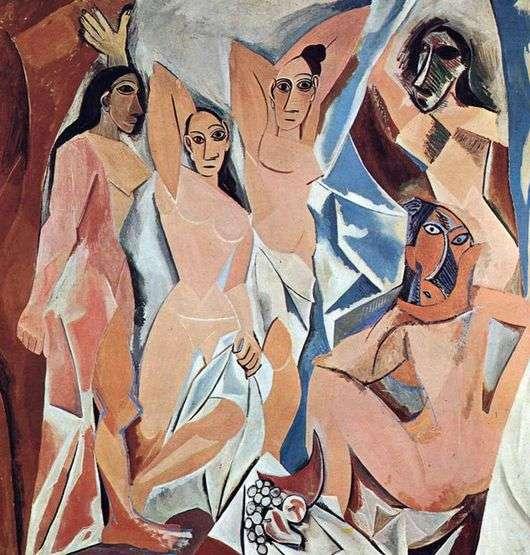 Описание картины Пабло Пикассо «Авиньонские девицы»