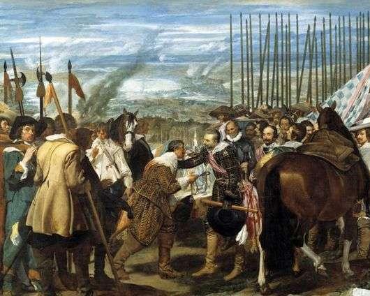 Описание картины Диего Веласкеса «Сдача Бреды»