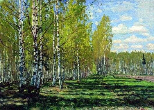 Описание картины Станислава Жуковского «Лес»