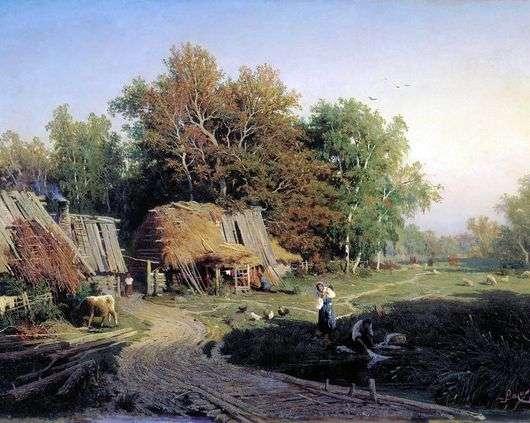 Описание картины Федора Васильева «Деревня»