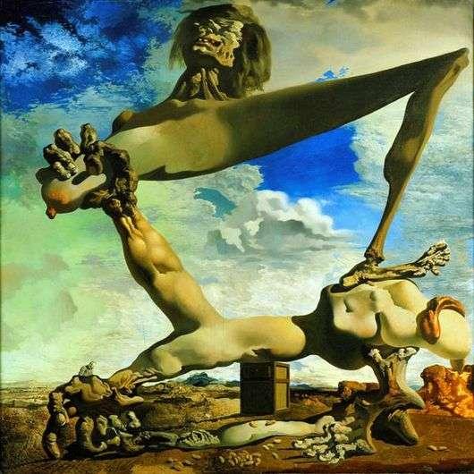 Описание картины Сальвадора Дали «Мягкая композиция с вареными бобами: предчувствие гражданской войны»