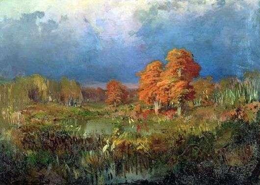 Описание картины Федора Васильева «Болото в лесу»