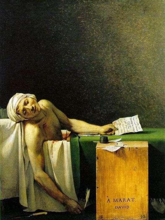 Описание картины Жака Луи Давида «Смерть Марата»