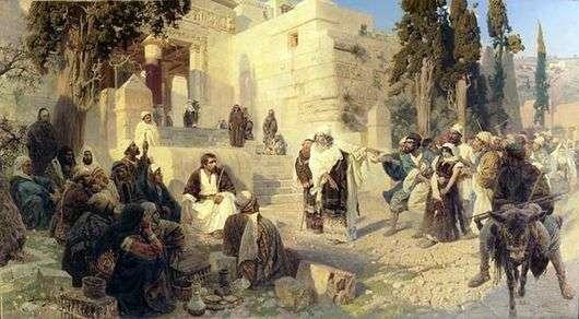 Описание картины Василия Поленова «Христос и грешница»