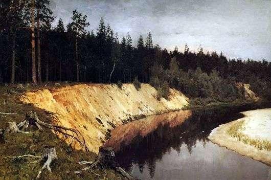 Описание картины Исаака Левитана «Лесистый берег»