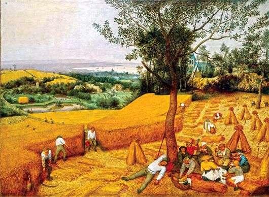 Описание картины Питера Брейгеля «Сенокос»