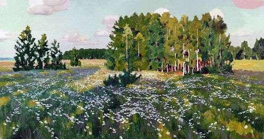 Описание картины Аркадия Рылова «Цветистый луг»