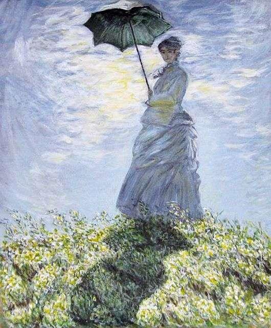 Описание картины Клода Моне «Дама с зонтиком»