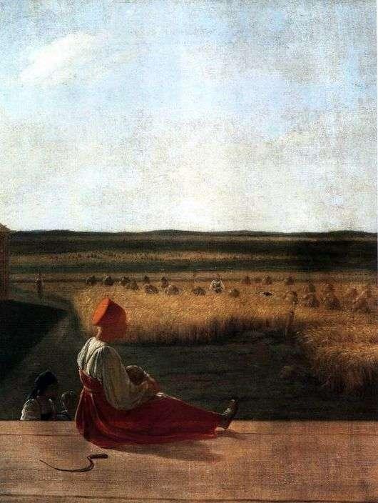 Описание картины Алексея Венецианова «На жатве»