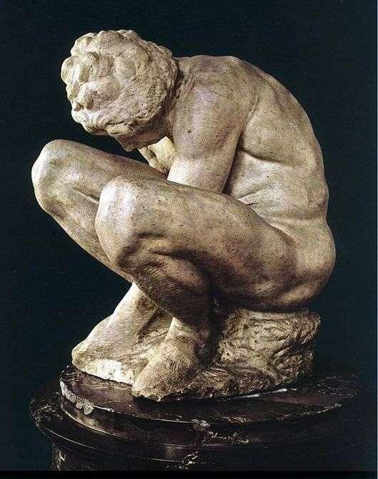 Описание скульптуры Микеланджело Буанарроти «Скорчившийся мальчик»