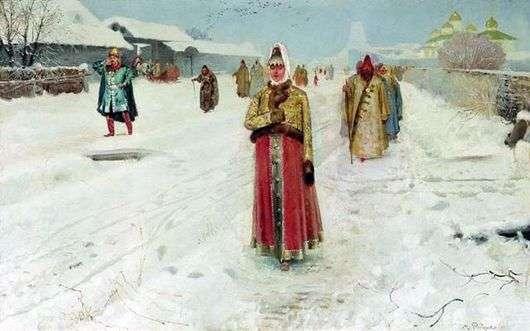 Описание картины Андрея Рябушкина «Воскресный день»