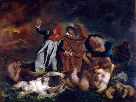 Описание картины Эжена Делакруа «Ладья Данте»