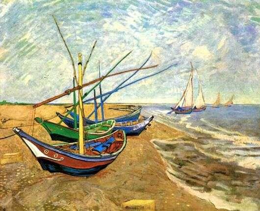 Описание картины Винсента Ван Гога «Лодки в Сен Мари»