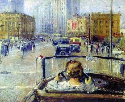 Описание картины Юрия Пименова «Новая Москва»