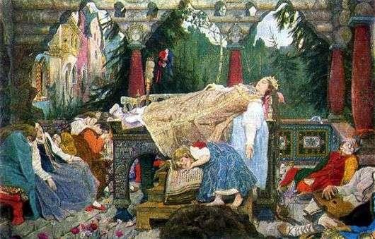 Описание картины Виктора Васнецова «Спящая царевна»