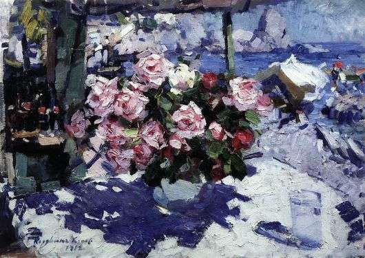 Описание картины Константина Коровина «Розы»