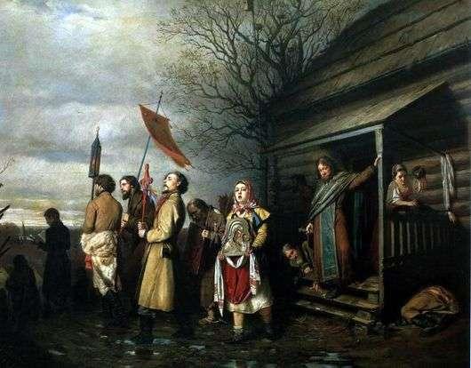 Описание картины Василия Перова «Сельский крестный ход на Пасхе»
