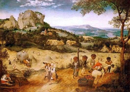 Описание картины Питера Брейгеля «Жатва»