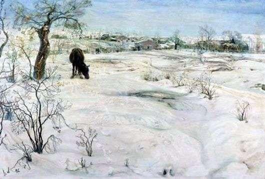 Описание картины Исаака Бродского «Зима»