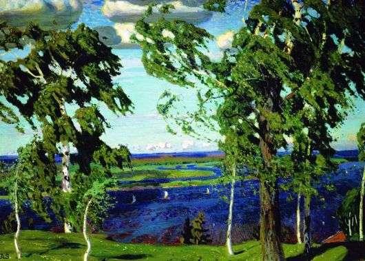 Описание картины Аркадия Рылова «Зеленый шум»