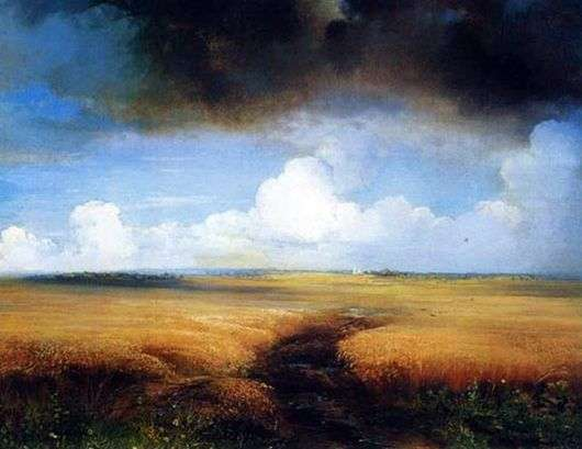 Описание картины Алексея Саврасова «Рожь»