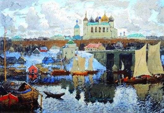 Описание картины Константина Горбатова «Новгород»
