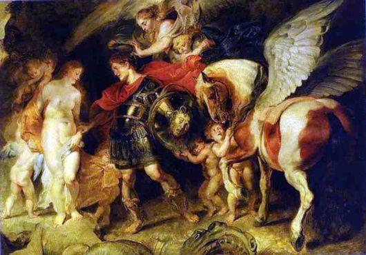 Описание картины Питера Рубенса «Персей и Андромеда»