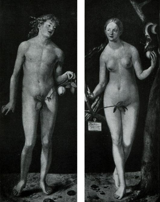 Описание картины Альбрехта Дюрера «Адам и Ева»