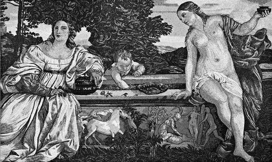 Описание картины Вечеллио Тициана «Любовь небесная и Любовь земная»