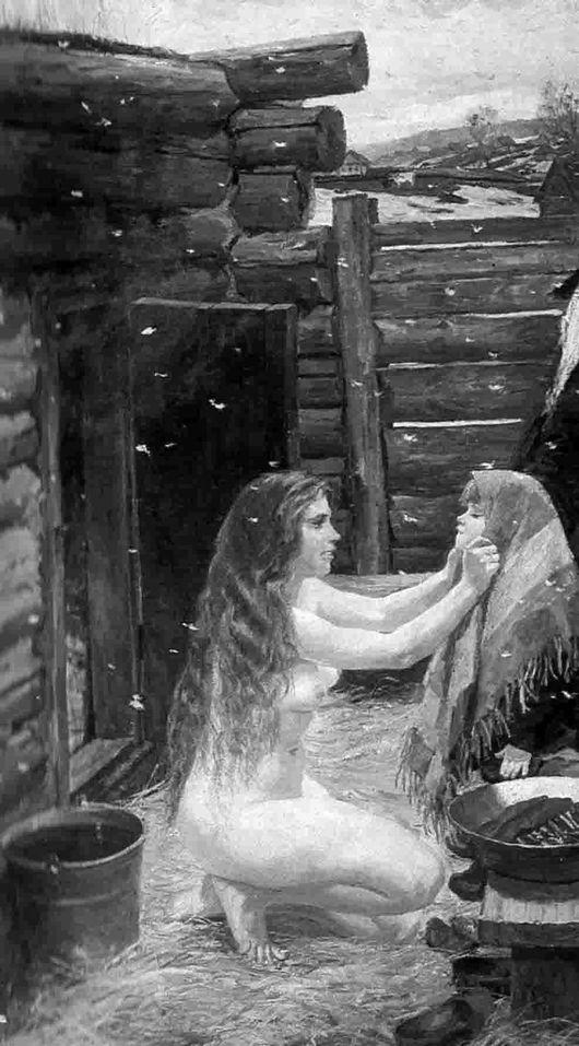 Описание картины Аркадия Пластова «Весна» (В бане)