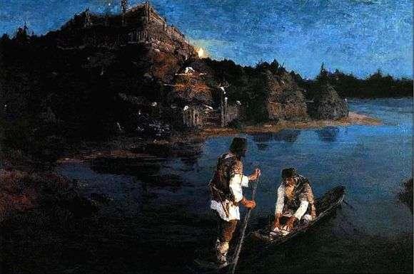 Описание картины Николая Рериха «Гонец»