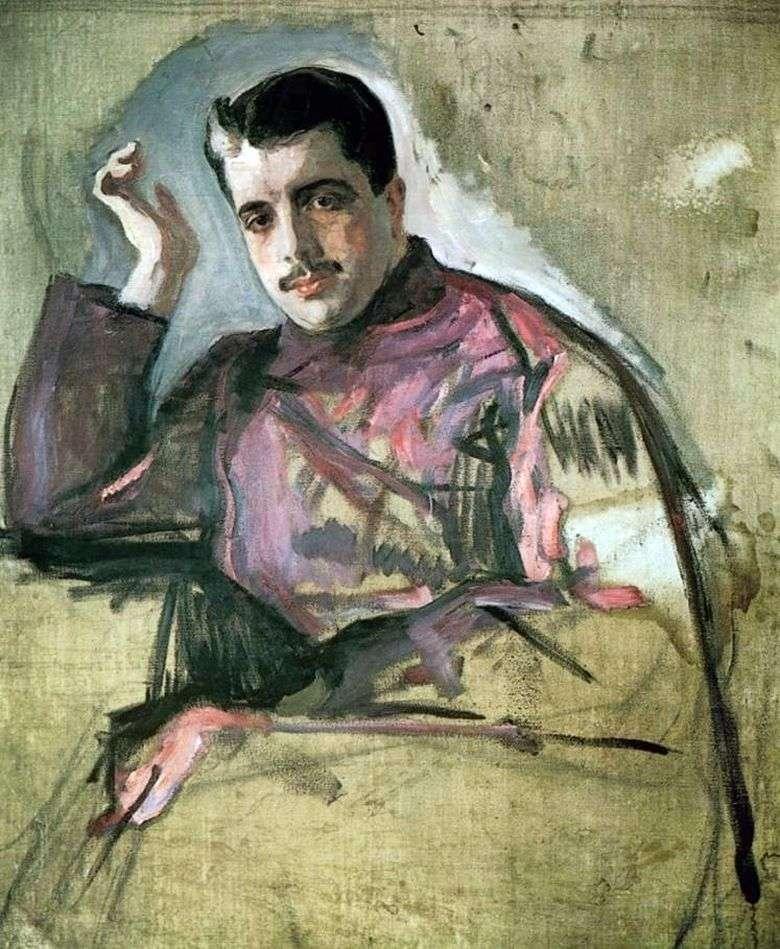 Valentin Serov, portrait of Sergei Diaghilev, 1904, Russian museum, St. Petersburg, Russia.