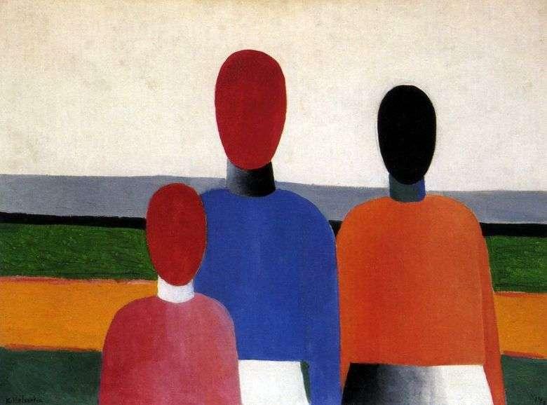 Описание картины Казимира Малевича «Три женские фигуры»