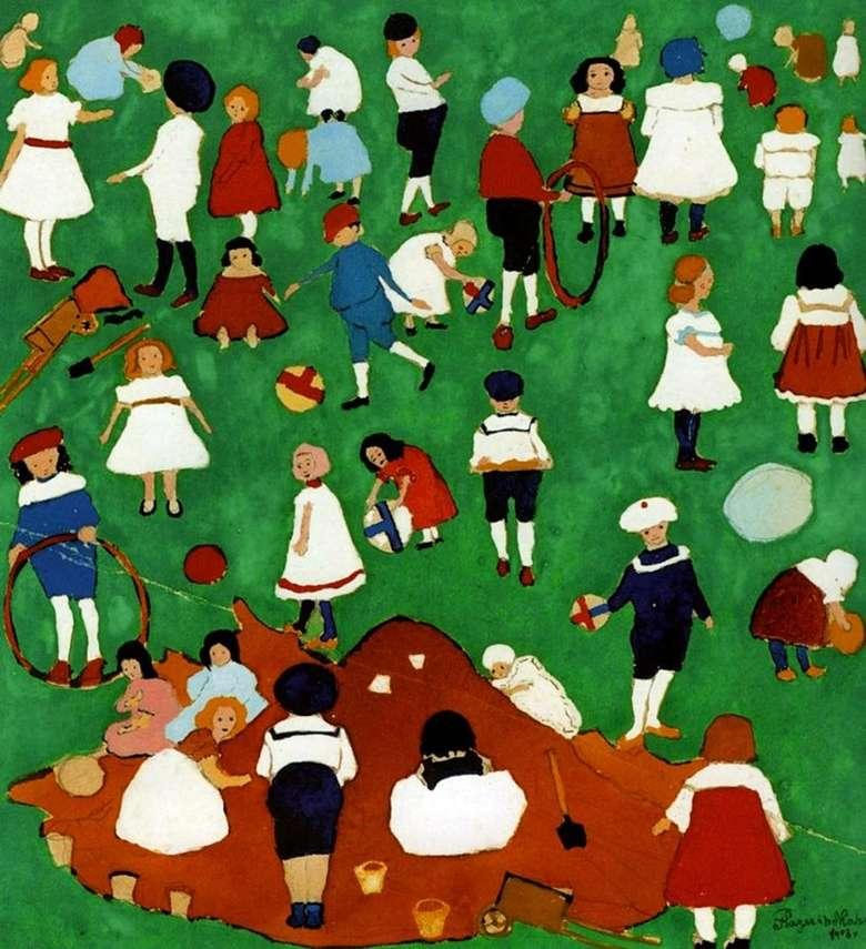 Описание картины Казимира Малевича «Дети»