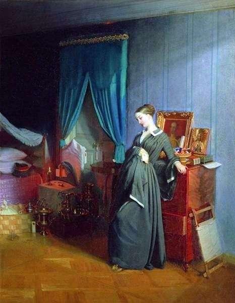 Описание картины Павла Федотова «Вдовушка»