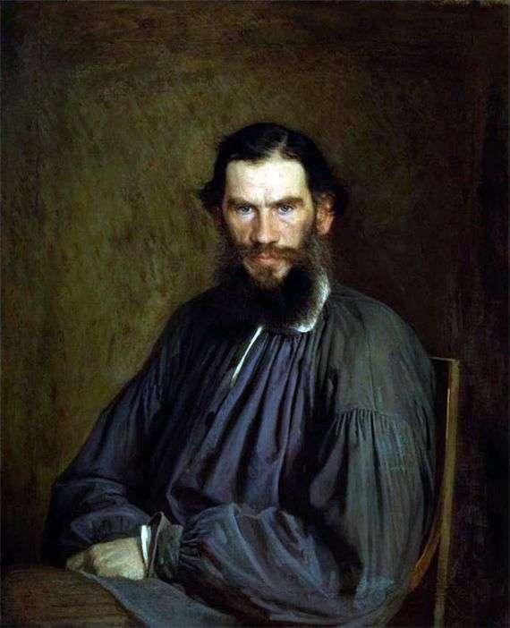 Описание картины Ивана Крамского «Портрет Льва Толстого»👍